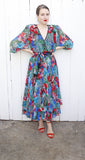 SOLD Diane Freis Silk Floral Dress M|L