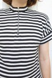 SOLD Comme de Couleur Japanese Striped Top | Large