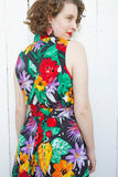 Belted Floral Print Sundress L|XL
