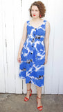 SOLD Blue Floral Print Sundress | Medium