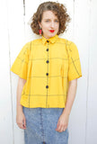 SOLD Cute Yellow Cotton Blouse | Medium