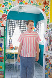 SOLD Bubblegum Pink Striped Button Down | Large