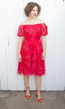 SOLD Lillie Rubin Magenta Dress S|M