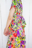 SOLD Avant Garde Saks Fifth Ave Colorful Floral Print Silk Dress S|M - Coast to Coast Mobile Vintage
