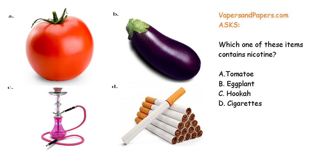 Vapers&Papers.com Asks: Which of these items contain nicotine?