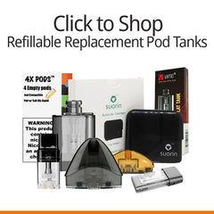 Vapers&Papers.com - Shop Refillable/ Fillable Replacement Pod Tanks