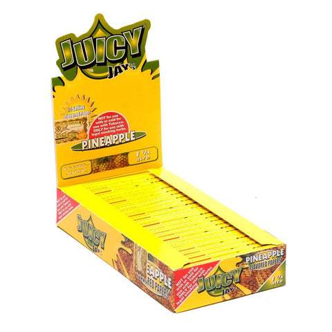 Juicy Jay's Pineapple 1 1/4 Rolling Paper - 24 Count Box - vapersandpapers.com