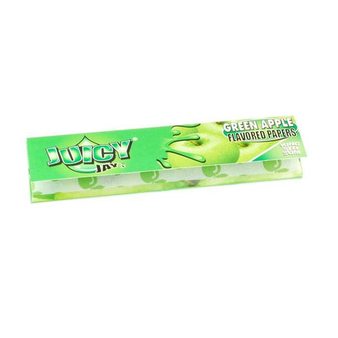 Juicy Jay's Green Apple Kingsize Slim Rolling Paper - 32-Leaf Single Booklet - vapersandpapers.com