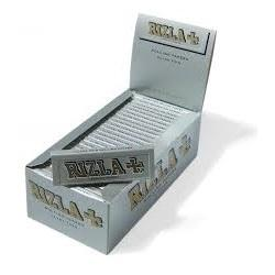 Rizla Silver Single Wide Rolling Paper - 50 Count Box - vapersandpapers.com