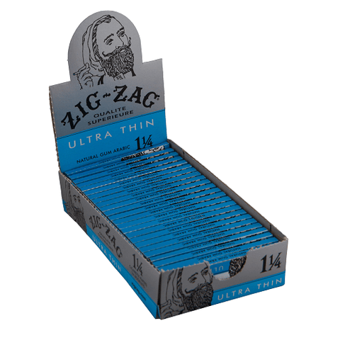 Zig Zag Ultra Thin 1 1/4 Rolling Paper - 24-Count Box - vapersandpapers.com