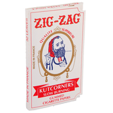Zig Zag White Cut Corners Single Wide Rolling Paper - 32-Leaf Single Booklet - vapersandpapers.com