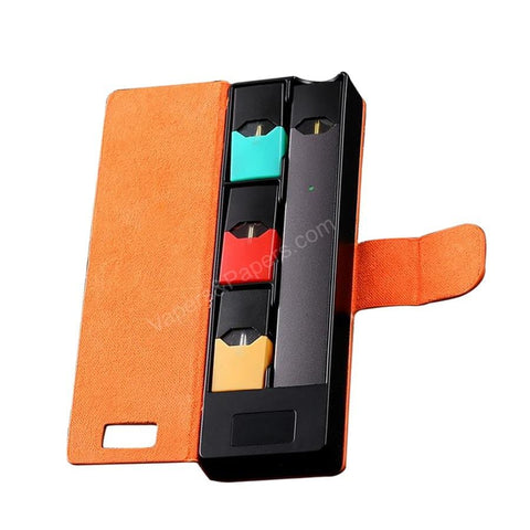 FUMA JBox (Orange) Portable Carry Case & Power Bank for JUUL Device & Pods - Personal Charging Case (PCC) - vapersandpapers.com