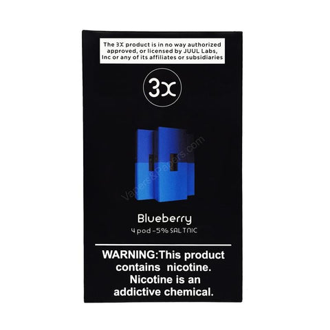 3X JUUL Compatible Pod Tanks - 5% Salt Nicotine - Blueberry (4 Pack) - vapersandpapers.com