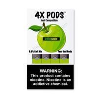 4X JUUL Compatible Pod Tanks - 6.8% Salt Nicotine - Green Apple (4 Pack) - vapersandpapers.com