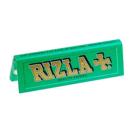 Rizla Green Single Wide Rolling Paper - 50-Leaf Single Booklet - vapersandpapers.com