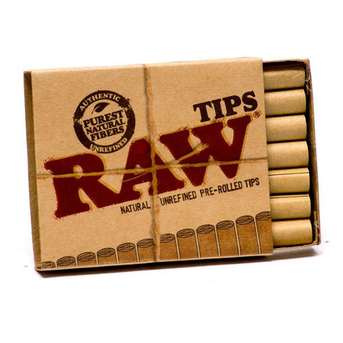 RAW Pre-Rolled Tips - 20-Tips Single Packet - vapersandpapers.com