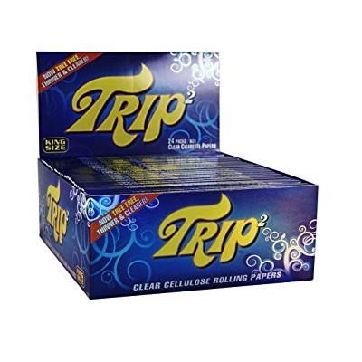 TRIP2 King Size Clear Rolling Paper - 24 Count Box - vapersandpapers.com