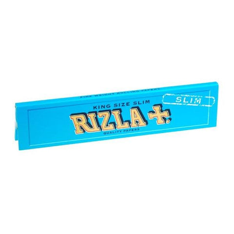 Rizla Blue Kingsize Slim Rolling Paper - 32-Leaf Single Booklet - vapersandpapers.com