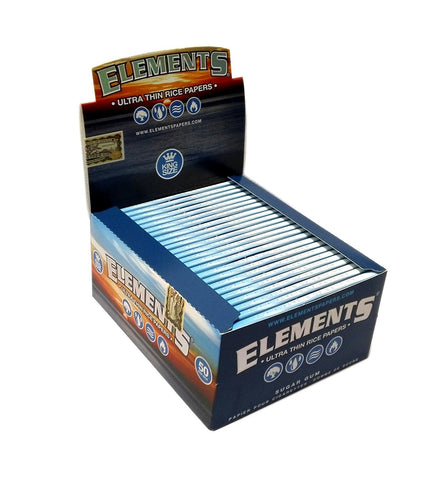 Elements Kingsize Rolling Paper - 50 Count Box - vapersandpapers.com