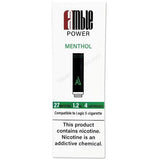 amble Power Cartomizer Tanks - 2.4% (27mg) Nicotine - Menthol (4 Pack) - vapersandpapers.com