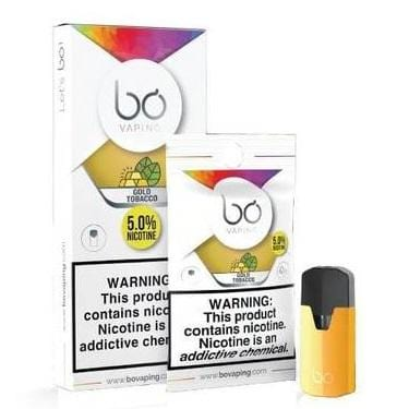 Bo Vaping Pod Tanks - 5% Salt Nicotine - Gold Tobacco (1 Pack) - vapersandpapers.com