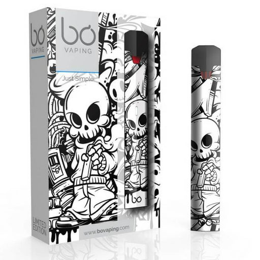 Bo One Starter Kit - Limited Edition Pod Vaporizer (Black & White Skull)