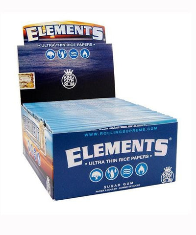 Elements Kingsize Slim Rolling Paper - 50 Count Box - vapersandpapers.com