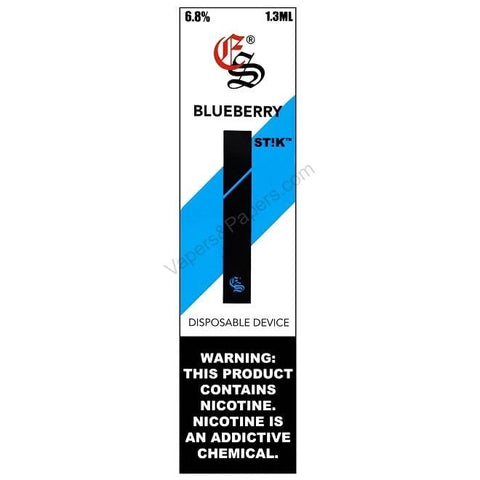 eonsmoke STIK Disposable Pod Vape - 6.8% Salt Nicotine - Blueberry (1 Pack) - vapersandpapers.com