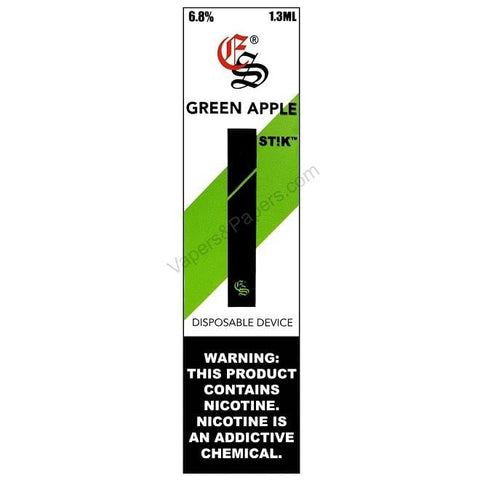 eonsmoke STIK 1.3mL Disposable Pod Vape - 6.8% Salt Nicotine - Green Apple (1 Pack)  DISCONTINUED - LIMITED SUPPLY - vapersandpapers.com
