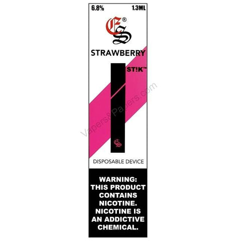 eonsmoke STIK 1.3mL Disposable Pod Vape - 6.8% Salt Nicotine - Strawberry (1 Pack)  DISCONTINUED - LIMITED SUPPLY - vapersandpapers.com