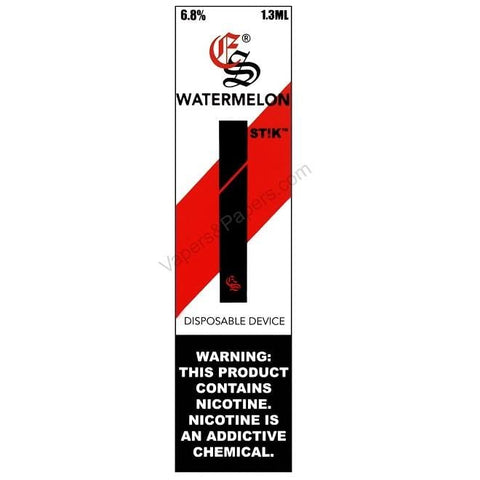 eonsmoke STIK Disposable Pod Vape - 6.8% Salt Nicotine - Watermelon (1 Pack) - vapersandpapers.com