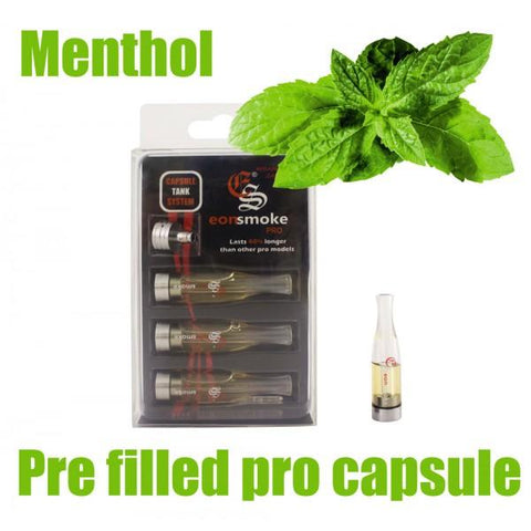 EonSmoke Pro Capsule Cartridge Refills w/ FREE Pro Adapter - 24mg Nicotine - Menthol (3 Pack) - vapersandpapers.com