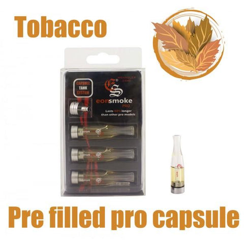 EonSmoke Pro Capsule Tanks w/ FREE Pro Adapter - 24mg Nicotine - Tobacco Flavor (3 Pack) - vapersandpapers.com