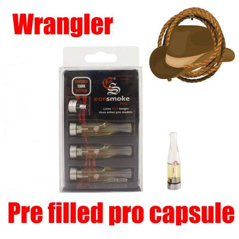 EonSmoke Pro Capsule Cartridge Refills w/ FREE Pro Adapter - 24mg Nicotine - Wrangler (3 Pack) - vapersandpapers.com