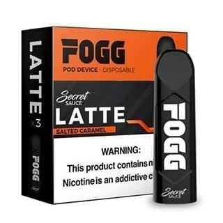 FOGG 1.2mL Disposable Pod Vape - 5% Salt Nicotine - Latte (3 Pack) - vapersandpapers.com