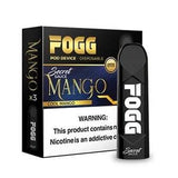 FOGG 1.2mL Disposable Pod Vape - 5% Salt Nicotine - Mango (3 Pack) - vapersandpapers.com
