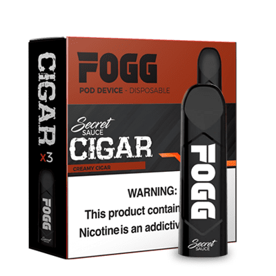 FOGG 1.2mL Disposable Pod Vape - 5% Salt Nicotine - Creamy Cigar (3 Pack) - vapersandpapers.com