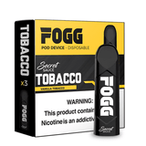 FOGG 1.2mL Disposable Pod Vape - 5% Salt Nicotine - Vanilla Tobacco (3 Pack) - vapersandpapers.com