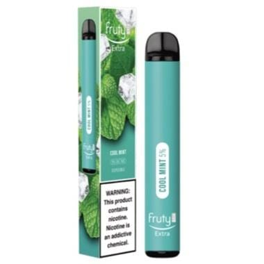 Fruyt (Fruty) STIK Extra Edition 3.0mL Disposable Pod Vape - 5% Salt Nicotine - Cool Mint (1 Pack) - vapersandpapers.com