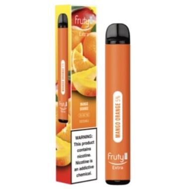 Fruyt (Fruty) STIK Extra Edition 3.0mL Disposable Pod Vape - 5% Salt Nicotine - Mango Orange (1 Pack) - vapersandpapers.com