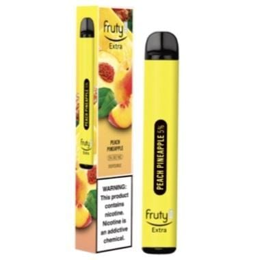 Fruyt (Fruty) STIK Extra Edition 3.0mL Disposable Pod Vape - 5% Salt Nicotine - Peach Pineapple (1 Pack) - vapersandpapers.com
