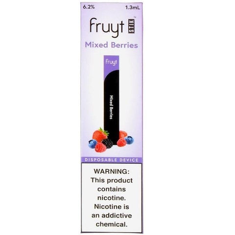 Fruyt (Fruty) STIK 1.3mL Disposable Pod Vape - 6.2% Salt Nicotine - Mixed Berries (1 Pack) - vapersandpapers.com