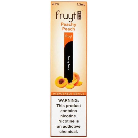 Fruyt (Fruty) STIK 1.3mL Disposable Pod Vape - 6.2% Salt Nicotine - Peachy Peach (1 Pack) - vapersandpapers.com