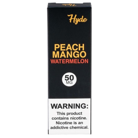 Hyde Original Edition 1.8mL Disposable Pod Vape - 2.5% or 5% Salt Nicotine - Peach Mango Watermelon (1 Pack) - vapersandpapers.com