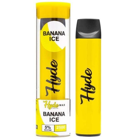 Hyde Curve Max Edition 8.0mL Disposable Pod Vape w/ Adjustable Airflow - 5% Salt Nicotine - Banana Ice (1 Pack)