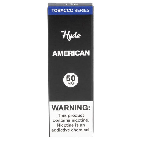 Hyde Original Edition 1.8mL Disposable Pod Vape - 2.5% or 5% Salt Nicotine - American Tobacco (1 Pack) - vapersandpapers.com