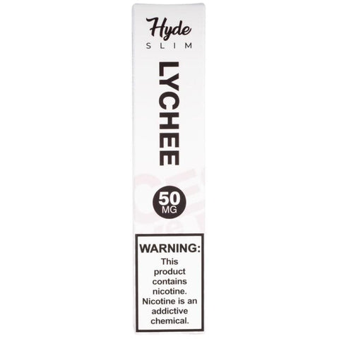 Hyde Slim Edition 1.3mL Disposable Pod Vape - 5% Salt Nicotine - Lychee (1 Pack) - vapersandpapers.com