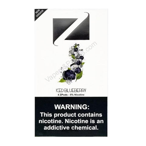 ZiiP JUUL Compatible 4% or 5% Salt Nicotine Pod Tanks - Iced Blueberry (4 Pack) - vapersandpapers.com