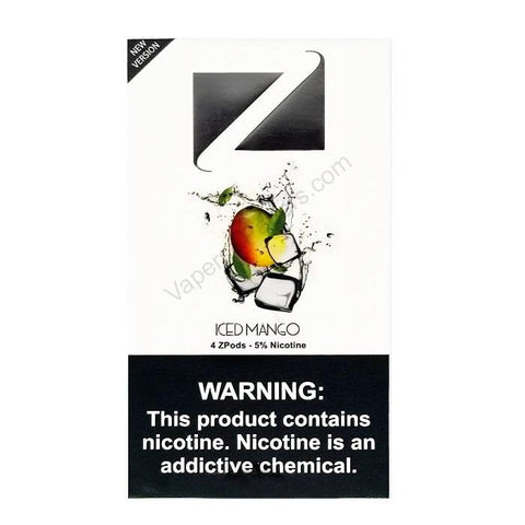 ZiiP JUUL Compatible 4% or 5% Salt Nicotine Pod Tanks - Iced Mango (4 Pack) DISCONTINUED -  LIMITED SUPPLY - vapersandpapers.com