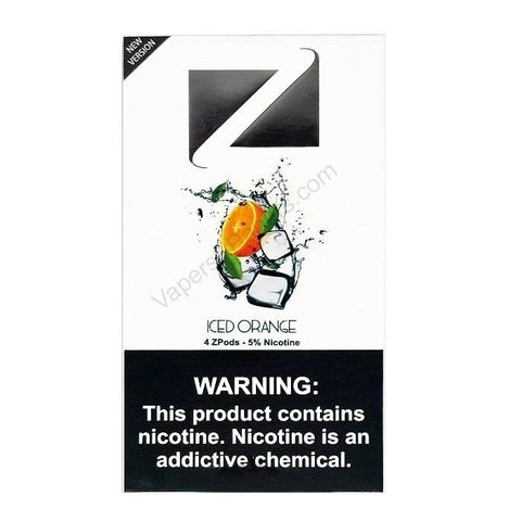 ZiiP JUUL Compatible 4% or 5% Salt Nicotine Pod Tanks - Iced Orange (4 Pack) DISCONTINUED -  LIMITED SUPPLY - vapersandpapers.com